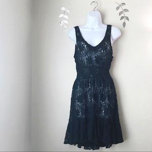 Free People Black Lace Dress Size Medium Mini